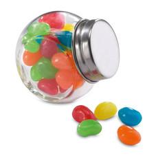 Barattolo di vetro con 30gr di gelatine colore multicolor KC7103-99