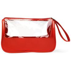 Beauty case in microfibra colore rosso MO8334-05