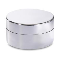 Burrocacao alla vaniglia in confezione di latta rotonda colore argento lucido KC7094-17