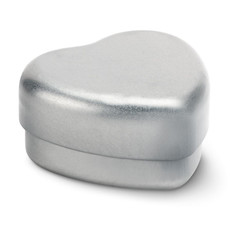 Burrocacao in scatola di latta a forma di cuore colore bianco MO8740-06