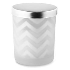 Candela profumata in bicchiere di vetro colore argento lucido MO9122-17