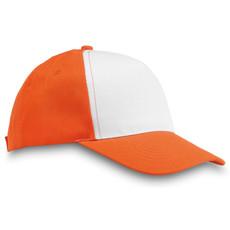 Cappellino a 5 pannelli in poliestere colore arancio MO8651-10