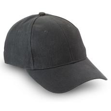 Cappello 6 segmenti con chiusura in fibra di metallo colore nero KC1464-03