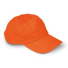 Cappello a 5 pannelli con fascetta regolabile colore arancio KC1447-10