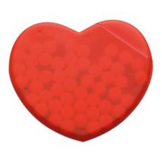 Dispenser per mentine a forma di cuore colore rosso MO7158-05