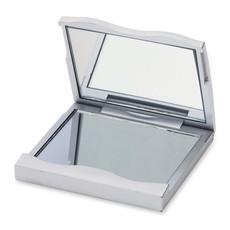 Doppio specchietto rettangolare in plastica colore argento KC1035-14