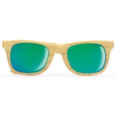 Occhiali da sole con montatura in PC effetto legno colore legno MO9022-40
