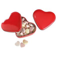 Porta caramelle in latta a forma di cuore colore rosso MO7234-05