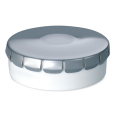 Porta mentine in confezione di latta rotonda colore argento opaco MO7232-16