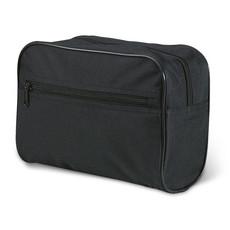 Portatrucchi chiusure a zip con tasca frontale colore nero KC1128-03
