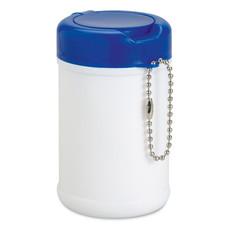 Salviette umidificate in confezione rigida in plastica colore blu MO8264-04