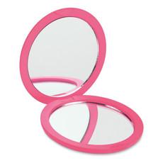 Specchietto doppio con finitura gommata colore fucsia MO8767-38