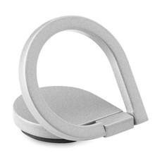 Anello portatelefono in zinco con sticker sul retro colore argento MO9445-14