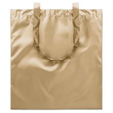 Borsa spesa lucida in poliestere colore oro MO9443-98