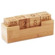 Calendario fisso da scrivania in bamboo colore legno MO9404-40