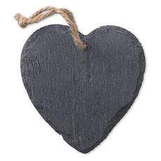 Decorazione in ardesia a forma di cuore colore nero MO9359-03