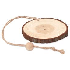 Decorazione tonda in legno con cordino per appendere colore legno MO9408-40