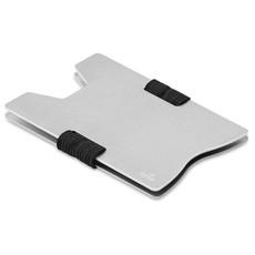 Porta carte di credito RFID in alluminio colore argento MO9437-14