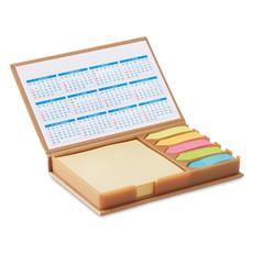 Set memo da scrivania con 4 calendari annuali colore beige MO9394-13