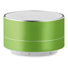 Speaker in alluminio con luce led sul lato colore lime MO9155-48