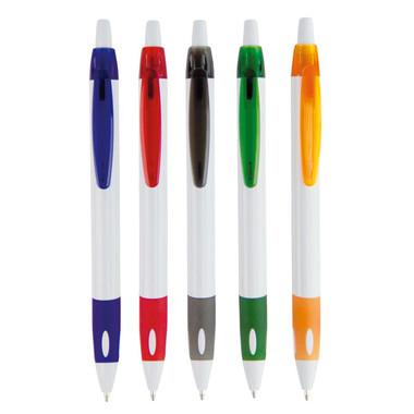 Penna a sfera con fusto bianco