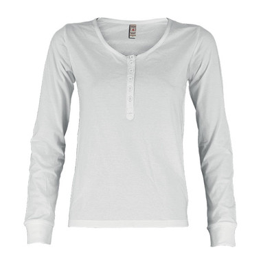 T-shirt donna manica lunga con bottoni Harbour Lady Payper