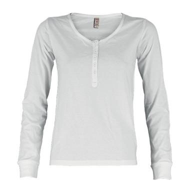 T-shirt donna manica lunga con bottoni Harbour Lady Payper