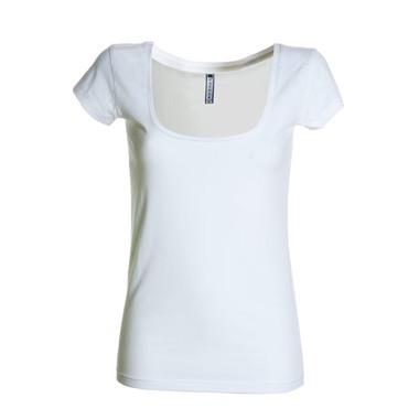 T-shirt donna manica corta, scollo ampio squadrato Florida Payper