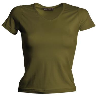 T-shirt stretch donna collo a V, manica corta Anna Payper