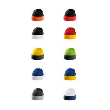 berretto in pile bicolore