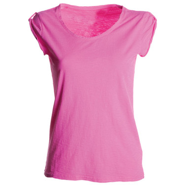 t-shirt donna manica corta slubby jersey fluo Neutral Discovery Lady Payper