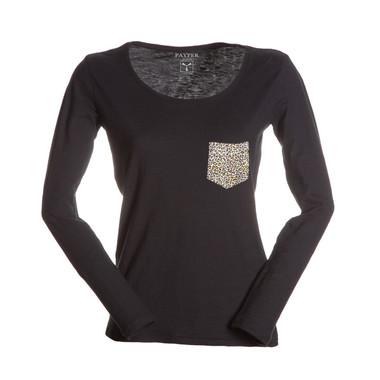t-shirt donna con taschino a contrasto slubby jersey colorato Living Lady Payper