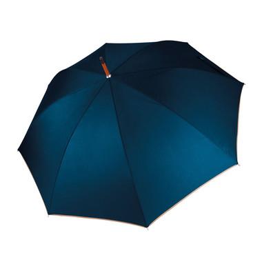 ombrello con asta in legno