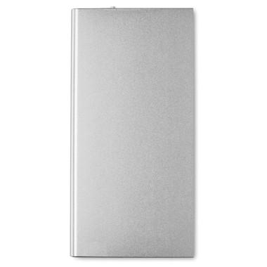 Power Bank in alluminio 8000 mAh colore argento opaco