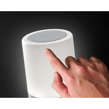 Speaker con luce da tavolo multifunzione colore bianco