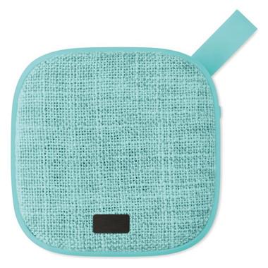 Speaker quadrato in tessuto colore turchese