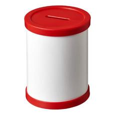 Salvadanaio rotondo - colore Rosso