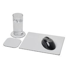 Set Brite-Mat® 1 con tappetino per mouse e sottobicchieri - colore Nero