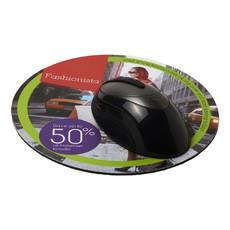 Tappetino per mouse Q-Mat® rotondo - colore Nero