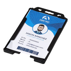 Porta badge trasparente Javier - colore Nero