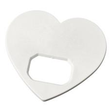 Apribottiglie a forma di cuore  - colore Bianco