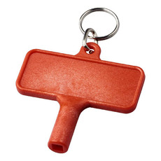 Chiave in plastica per radiatori con portachiavi - colore Rosso