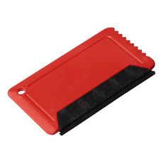 Raschietto per ghiaccio con gomma - colore Rosso