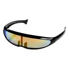 Occhiali da sole con lenti a specchio colorate - colore Nero