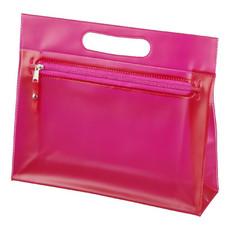 Borsa porta cosmetici in PVC trasparente - colore Magenta