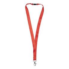 Lanyard in bambù con clip di sicurezza - colore Rosso
