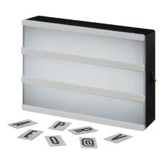Scatola luminosa decorativa formato A5 - colore Bianco