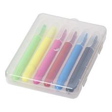6 pastelli a cera in astuccio di plastica - colore Trasparente