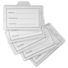 Porta badge in plastica