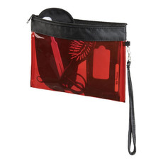 Custodia da viaggio in PVC - colore Rosso Trasparente